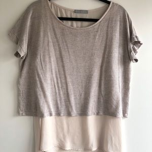Olivia Moon Double Layer Cropped Tee